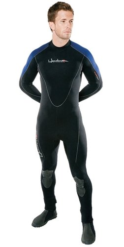 Henderson Thermoprene 7mm Men's Jumpsuit (Back Zip) - Black/Blue - Medium Jumpsuit Medium Wetsuits