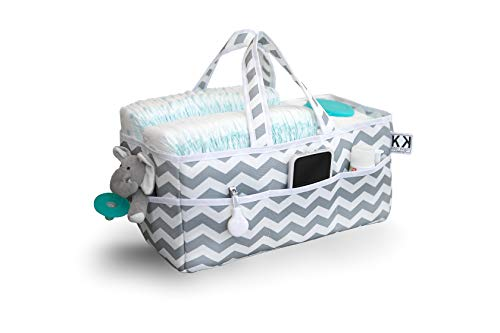 - Kiddy Kaddy by Bubble Bug. Baby Diaper Caddy and Organizer/Premium Diaper and Storage Caddy Holds More Diapers Than Similar Products. Perfect for Nursery, Home, Car or Travel Organization.