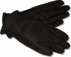 RJ Classics Ladies Leather Show Glove - Size:Medium/Large Color:Black