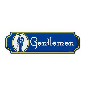 Past Time Signs RPC018 Gentlemen Door Push Metal Sign by Past Time Signs