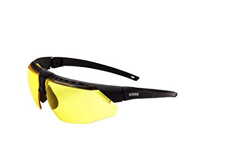 Uvex by Honeywell Avatar Safety Glasses, Black Frame with Amber Lens & HydroShield Anti-Fog Coating (S2852HS)