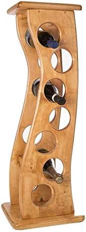 New Real Wooden Wine Rack/Cabinet, 7 Bottles, Flamingo 7 Light Oak, Kitchen/Bar