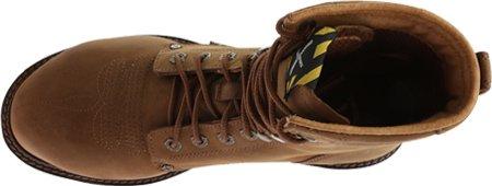 Vridna X Mens Bedrövade 8 Lite Cowboy Arbete Spets-up Boot Stålhätta - Mlcslm1 Nödställda