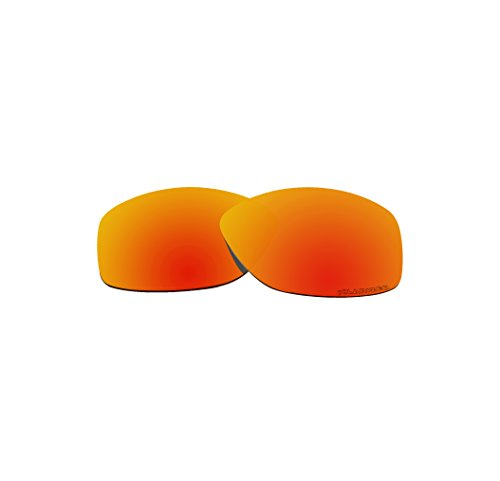 BVANQ Polarized Lenses Replacement for Oakley Cohort OO9301 Sunglass Sunglasses Fire Red Mirror - Cohort Replacement