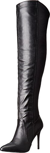 CHARLES BY CHARLES DAVID Women's Paso Over The Knee Boot,Black Smooth,US 9 M
