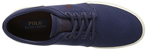 Ralph Lauren Mens Faxon Low SK VLC Textile Trainers Blau