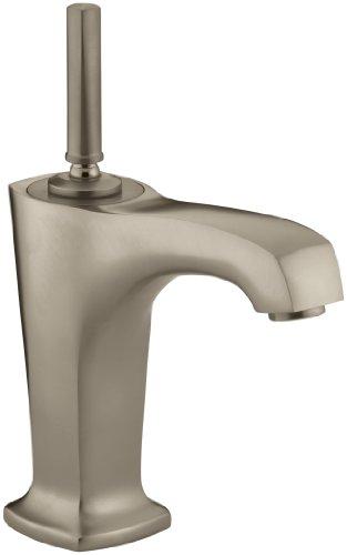KOHLER K-16230-4-BV Margaux Single Control Lavatory Faucet, Vibrant Brushed Bronze 4 Bv Kohler Brushed Bronze