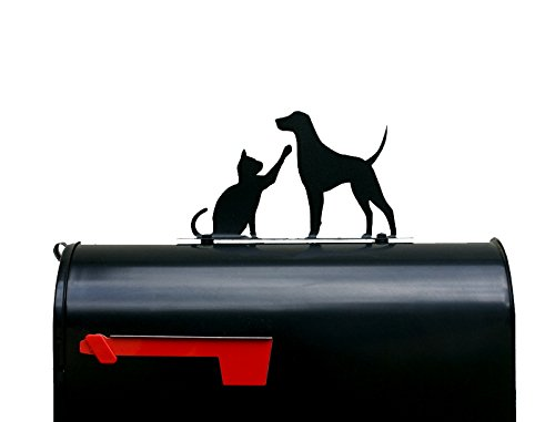 Cat and Dog Playing Mailbox Topper / Sign / Mail Box