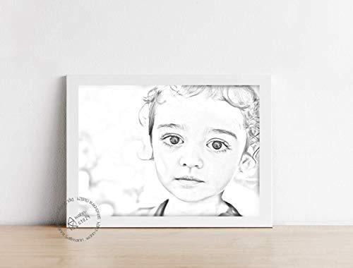pers/önliche Anfertigung Zeichnung//Portrait von Ihrem Foto//Bild Bildbearbeitung Gesichtsausdruck Skizze Geschenk individuell handgefertigt