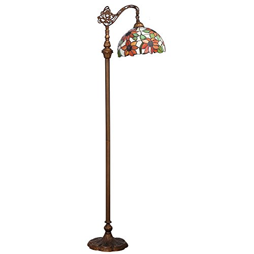 Bieye L10515 Sunflower Tiffany Stained Glass Reading Floor Tall