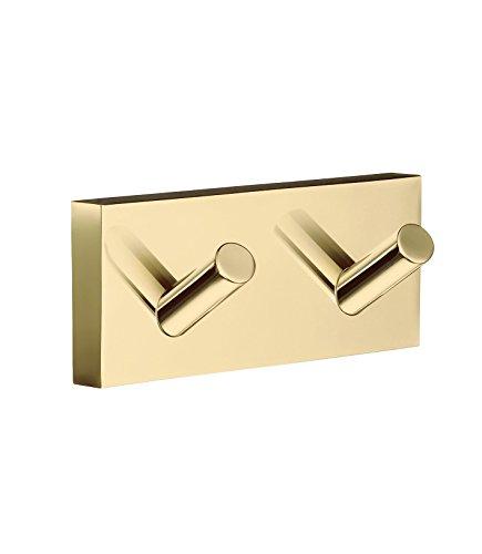 Smedbo SME RV356 Towel Hook Double, Polished Brass