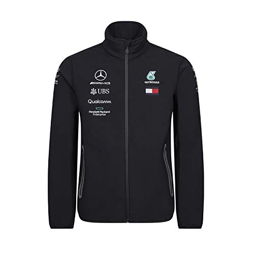 Mercedes-AMG Petronas Motorsport 2019 F1 Team Softshell Jacket Black (XL)