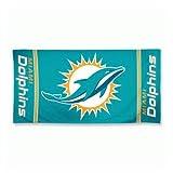 """WinCraft NFL Miami Dolphins A1875015 Fiber Beach Towel, 9 lb/30"""" x 60"""""""