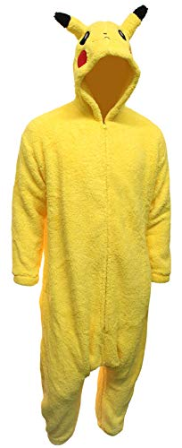 Adult Pikachu Onesie Costume Cosplay Kigurumi - One Size Yellow]()