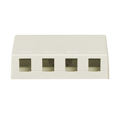 (Legrand - On-Q WP3504WH Four Port Surface Mount Box,)