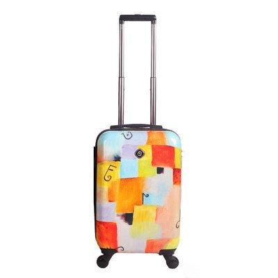 Frameless Expandable Luggage Set - NeoCover NCLGA-1202-1PC Notes Squared Luggage, 24