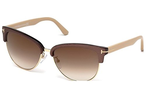 Tom Ford Fany FT0368 Sunglasses Dark Brown w/Gold Mirror Lens 50G FT - Tom Ford Celebrity Sunglasses