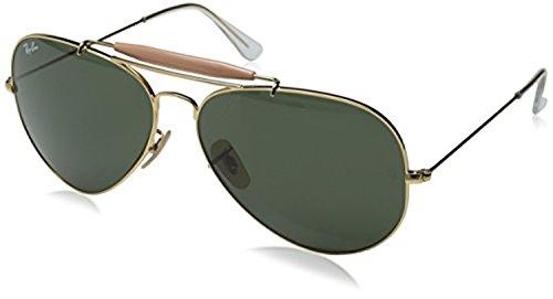 Ray-Ban Outdoorsman II RB 3029 Sunglasses Arista / Crystal Green 62mm & HDO Cleaning Carekit - 3029 Rb