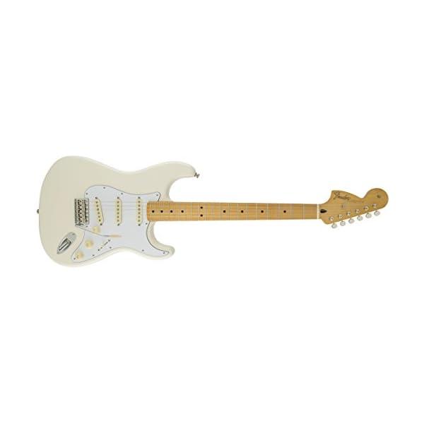 Fender 0145802305 Jimi Hendrix Stratocaster Maple Fingerboard Electric Guitar – Olympic White