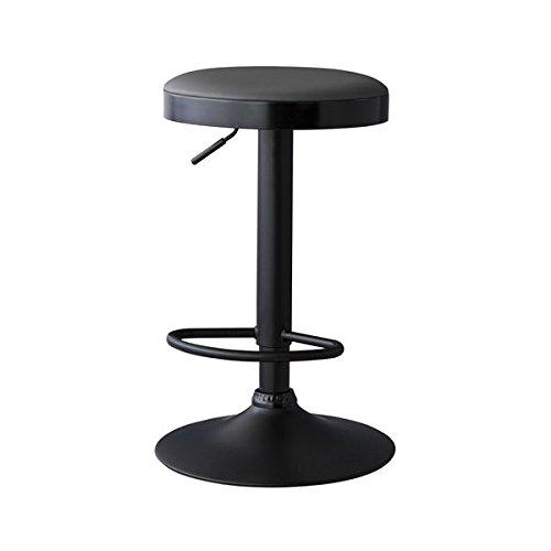 日用品雑貨 椅子 関連商品 カウンタースツール/昇降機能バーチェア 【ブラック】 高さ61-82cm スチール脚 RKC-270BK B07FJ762M8
