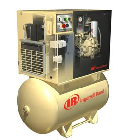 Ingersoll-Rand Rotary Screw Air Compressor Total Air Sytm Tank Mnted 15HP 230-3-6050CFM 150 MaxPSI 80gal. UP6-15CTAS-I