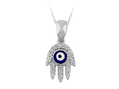 Pendentif Main de Fatima Diamants-Femme- or Blanc 215P0020