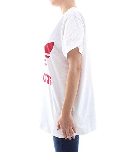 adidas Originals Damen T-Shirt Big Trefoil Tee Weiss (10) 38