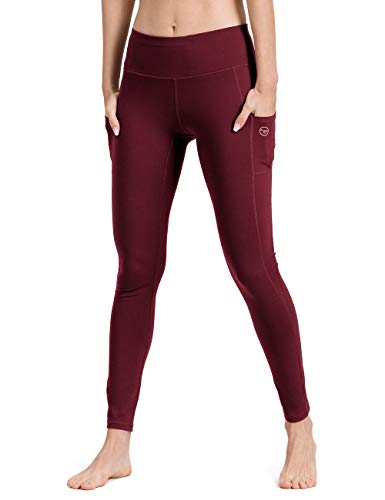 ALONG FIT Yoga Pants for Women with Cell Phone Pockets Side/Inner Compression Workout Leggings Tummy Control Yoga Leggings Capris