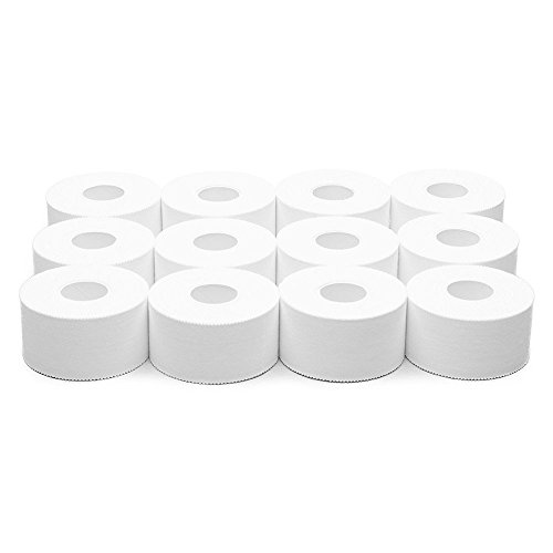 Athletic Tape - White - 1.5 Inch x 15 yards 12 rolls by Vetmed USA