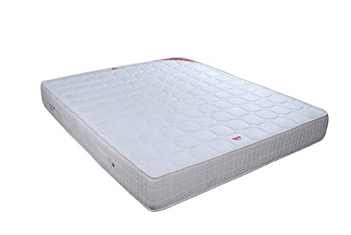 Springwel Softech Series 6 inches Pocket Spring Mattress  White and Grey, 72x60x6