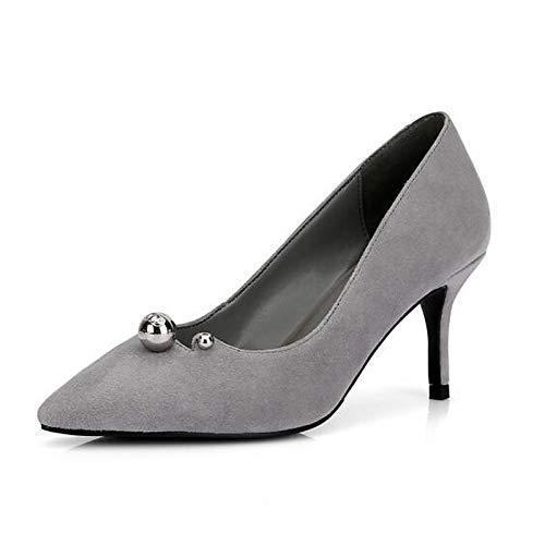 ZHZNVX Stiletto Heels Black Women's Shoes Heel Suede Green Gray Spring Comfort Green wp7Hwqr