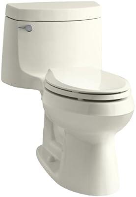 Kohler K-3828-96 Cimarron Comfort Height Elongated Toilet, Biscuit, 1-Piece