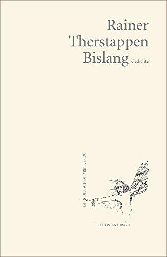 Amazoncom Bislang Gedichte Edition Anthrazit Im