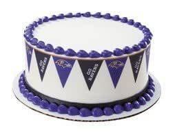 Baltimore Ravens Football Pennant Edible Cake Border
