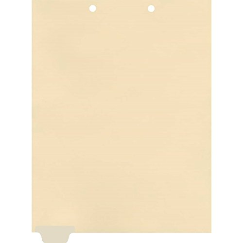 (Medical Arts Press Match Write-On End Tab Chart Dividers- Blank, Position 1 (100/Pkg) (56836))