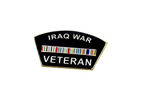 Iraq War Pin (Iraq War Veteran Ribbon Vets Military Lapel Hat Pins PPM7314 (1 Pin, Veteran))