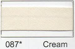 Polycotton Bias Binding 50mm - Cream (2.5m) by Essential Trimmings
