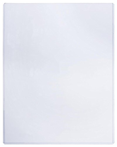 Displays2go Plastic Sign Sleeve, Document Holder, 8.5 x 11-Inch, Pack of 25, Clear (PVCP8511)