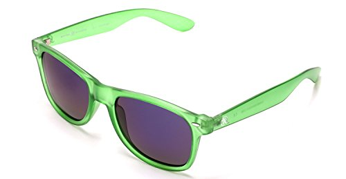 Samba Shades Polarized Wayfarer Sunglasses with Transparent Green Frame, Mirrored Lens for Men and - Prevent Sunglasses Will Cataracts