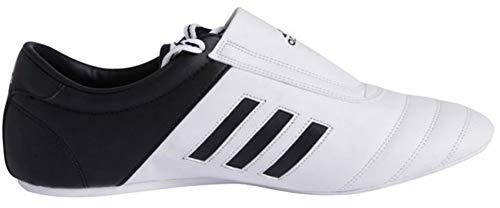 adidas KICK Shoes Martial Arts Sneaker White with Black Stripes - Men Adidas Shoes Goodyear