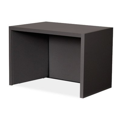 Mailroom Riser for 30'' Corner Table Finish: Black