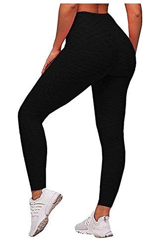 81369e976c2a12 INSLING High Waisted Leggings Yoga Pants Tummy Control Butt Lifting Workout  Slimming Tight for Woman Black
