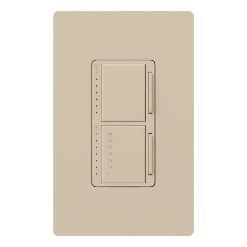 (Lutron MA-L3T251-TP Maestro 300 Watt Single Pole Dimmer And Timer Switch, Taupe)