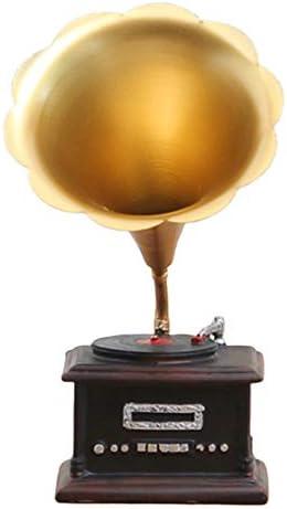 Pengyu - Figura decorativa de Gramófono, diseño retro de ...