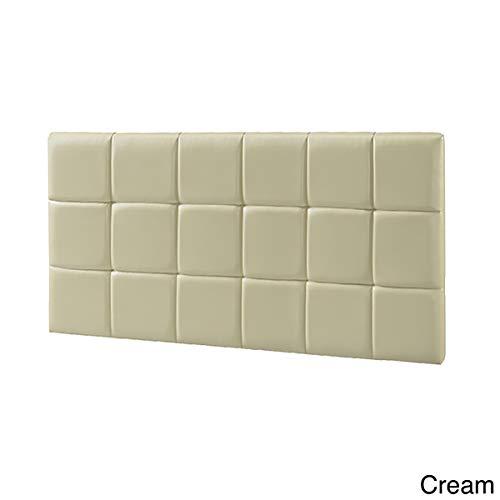 LYKE Home Faux Leather Twin-Size Wall Mounted Headboard Cream
