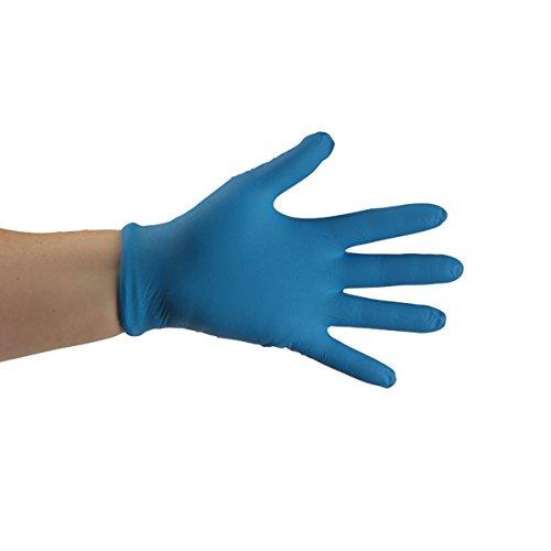 UltraSource Economy Disposable Nitrile Gloves, 5 mil, Powder Free, Dark Blue, Large (Box of 150)