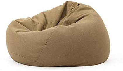 GY Bean Bag Chair, Lazy Sofa Sack, Particle Filling, Removable Cotton Linen, Suitable for Living Room Dormitory Adult, Child, 5 Colors, 3 Sizes Color Brown, Size 100110cm