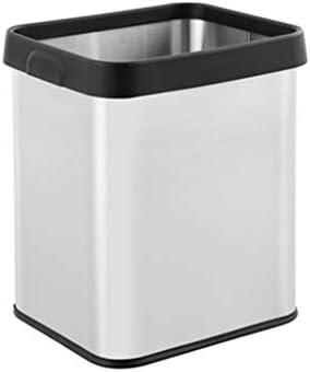 滑らかな表面 むき出しのごみ箱、スクエア家庭用キッチンリビングルーム酷いビン・缶ベッドルームキッチンごみ貯蔵ビン簡単にクリーン リサイクル可能なデザイン (Size : 26L)