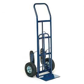 Industrial Strength Steel Hand Truck with Curved Handle & Stair ...