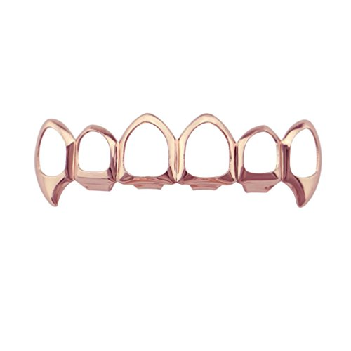 Inverlee 1Pcs Hip Hop Teeth Grillz Top Or Bottom Mouth Teeth Grills Fashion Removable (G) -